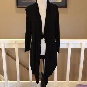 White House Black Market Black Drapy cardigan
